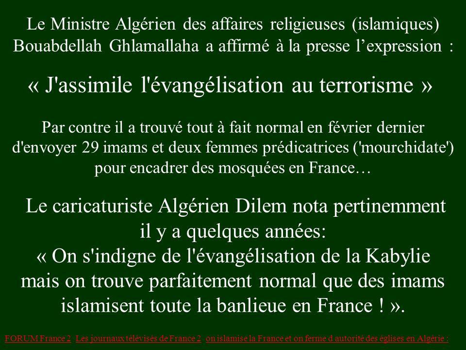 LAlgérie ferme 10 églises et traque des missionnaires ! pendant quen France on construit des mosquées, en Algérie on ferme des Églises et on traque le