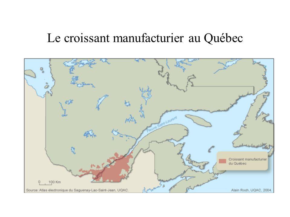 Le croissant manufacturier au Québec