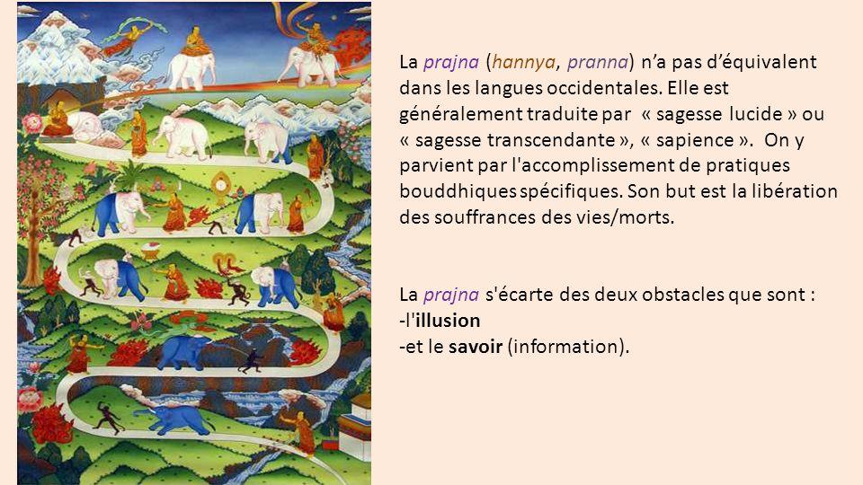 La prajna (hannya, pranna) na pas déquivalent dans les langues occidentales.