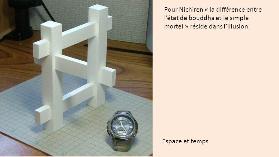 Pour Nichiren « la différence entre létat de bouddha et le simple mortel » réside dans lillusion.