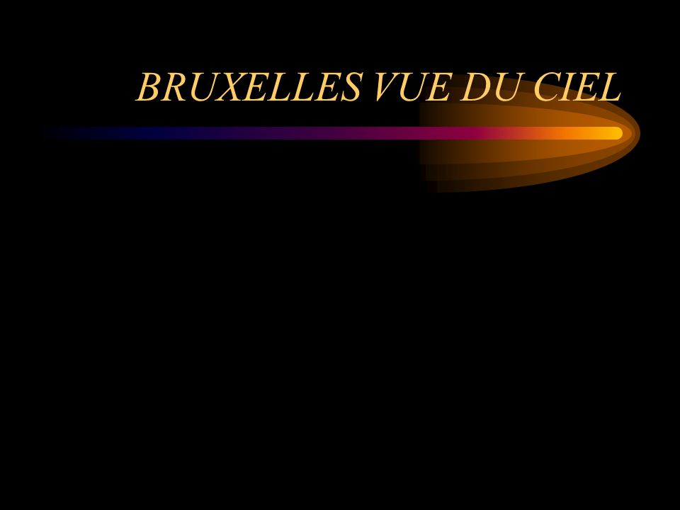 BRUXELLES VUE DU CIEL