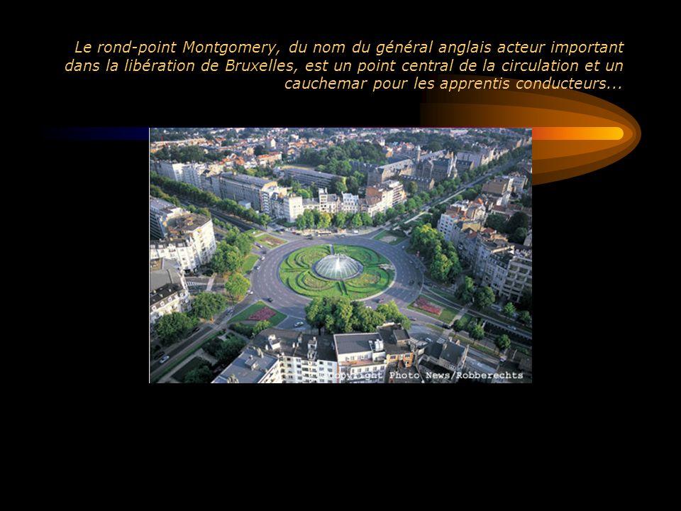 Le rond-point Montgomery, du nom du général anglais acteur important dans la libération de Bruxelles, est un point central de la circulation et un cau