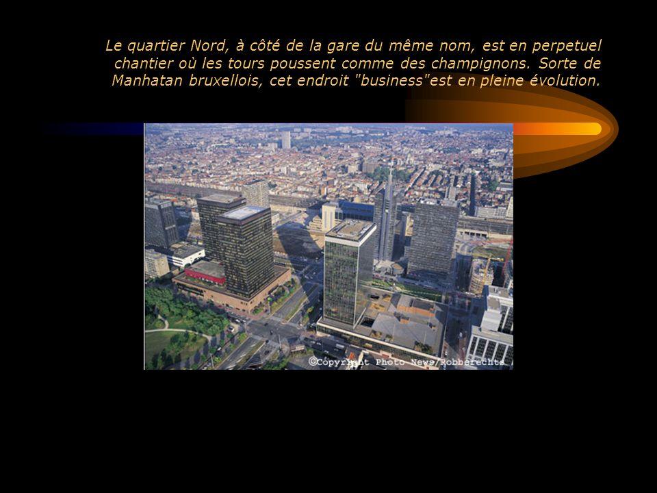 Le quartier Nord, à côté de la gare du même nom, est en perpetuel chantier où les tours poussent comme des champignons. Sorte de Manhatan bruxellois,
