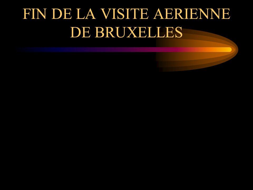 FIN DE LA VISITE AERIENNE DE BRUXELLES