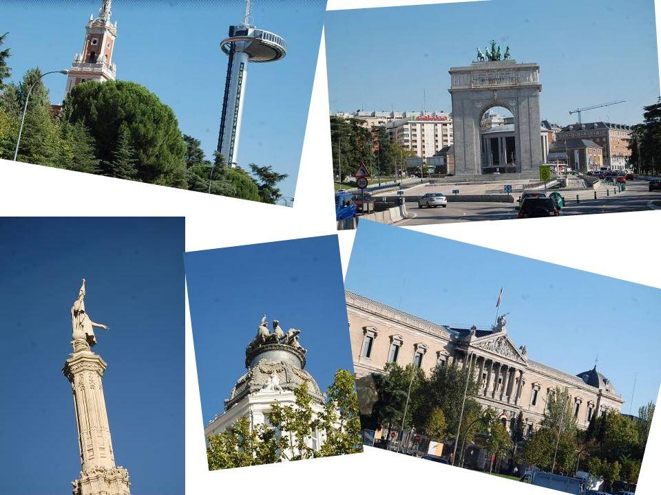 Visite de Madrid le jeudi 4 octobre après midi Ces 4 tours sont implantées sur l ancienne cité sportive du Real Madrid, le long du plus grand axe de Madrid, qui coupe la ville en deux.
