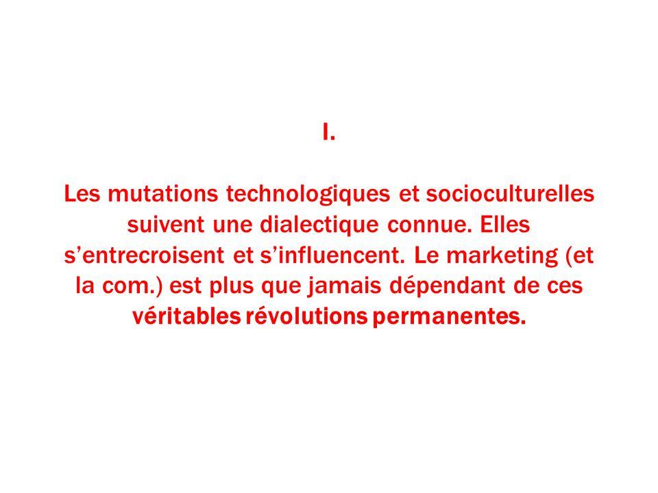 I. Les mutations technologiques et socioculturelles suivent une dialectique connue.