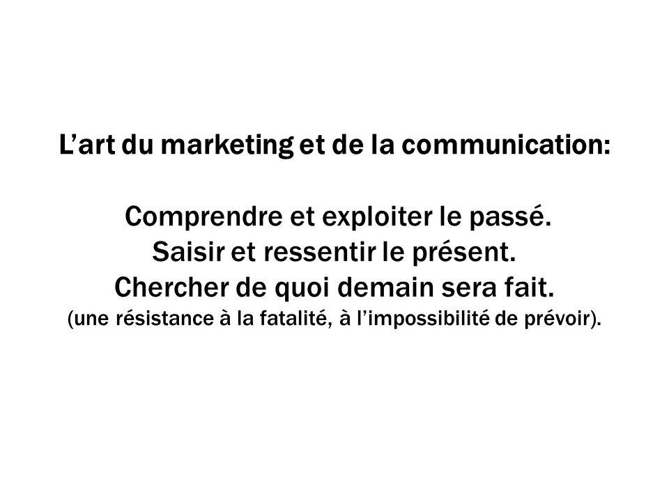 Lart du marketing et de la communication: Comprendre et exploiter le passé.