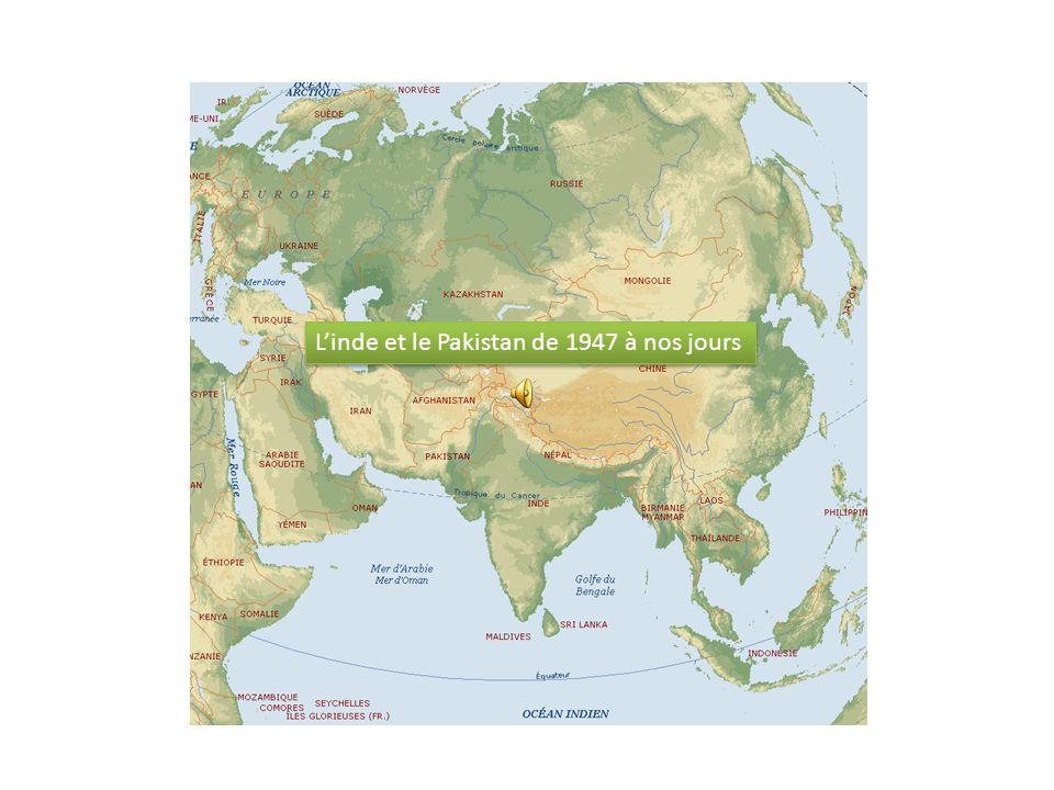 Mais la Chine s empare, en 1962, de l Aksaï Chin dans la partie Est du Cachemire Conséquences : LInde ( 1974) et le Pakistan vont se doter de larme nucléaire ( 1998)