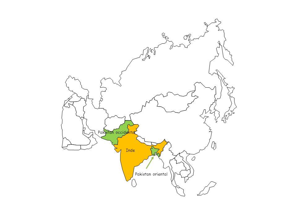 Inde Pakistan occidental Bangladesh depuis 1971 Dhaka