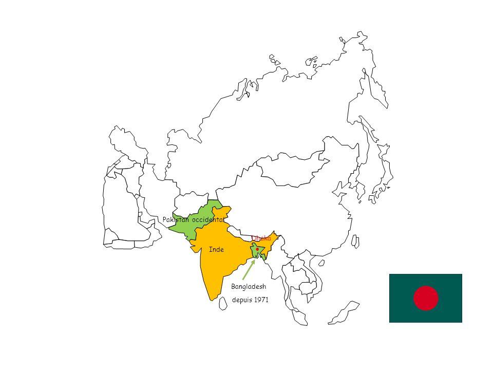 Inde Pakistan occidental Bangladesh Cachemire