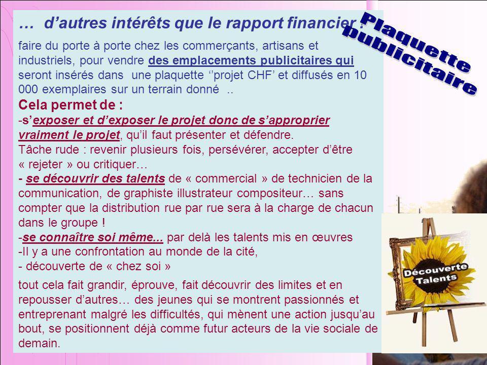 … dautres intérêts que le rapport financier .