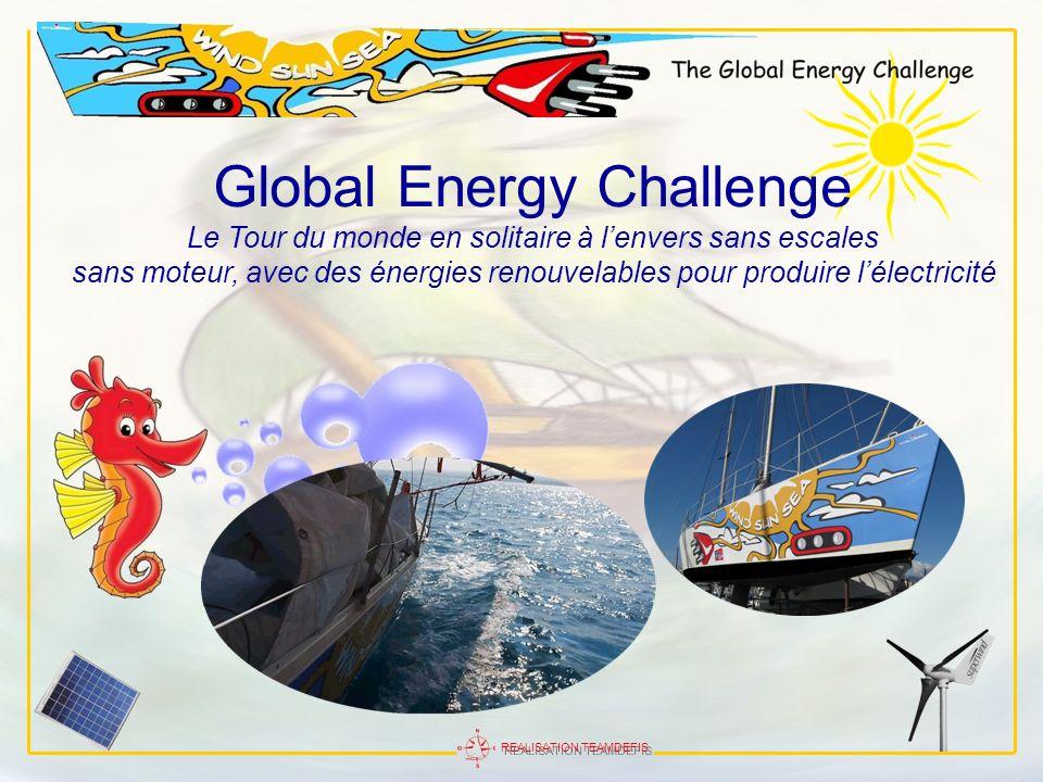REALISATION TEAMDEFIS Global Energy Challenge Le Tour du monde en solitaire à lenvers sans escales sans moteur, avec des énergies renouvelables pour p