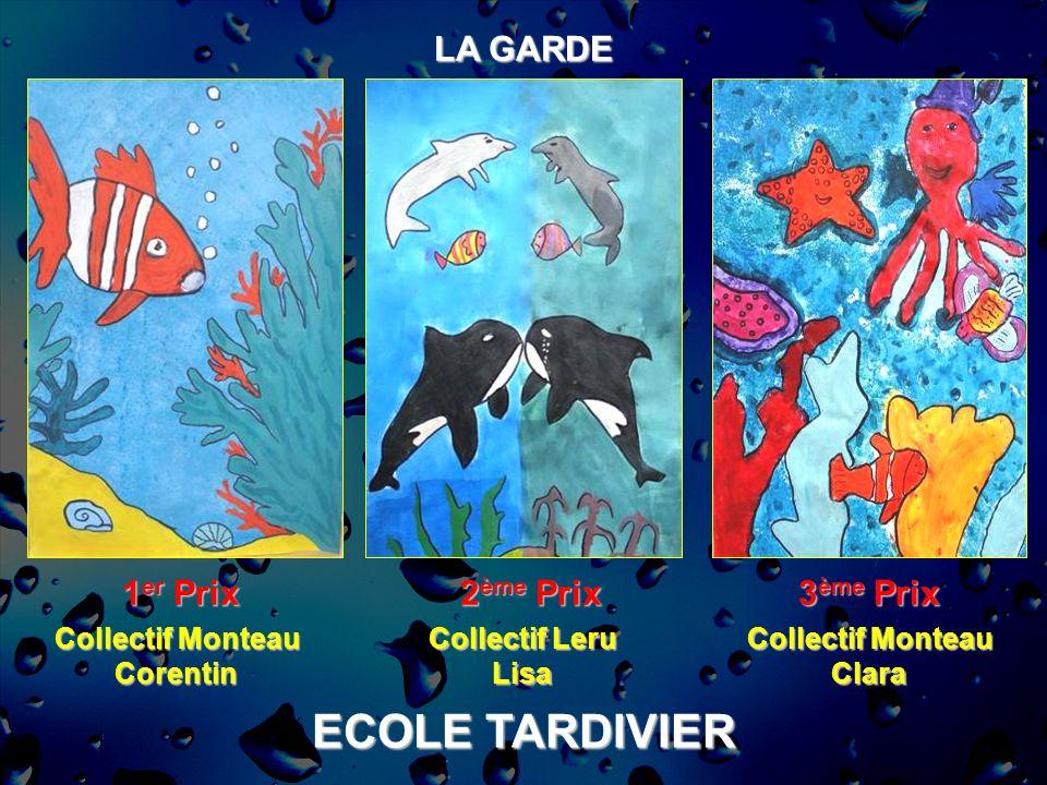 ECOLE TARDIVIER LA GARDE 1 er Prix 2 ème Prix 3 ème Prix Collectif Monteau Corentin Collectif Leru Lisa Collectif Monteau Clara