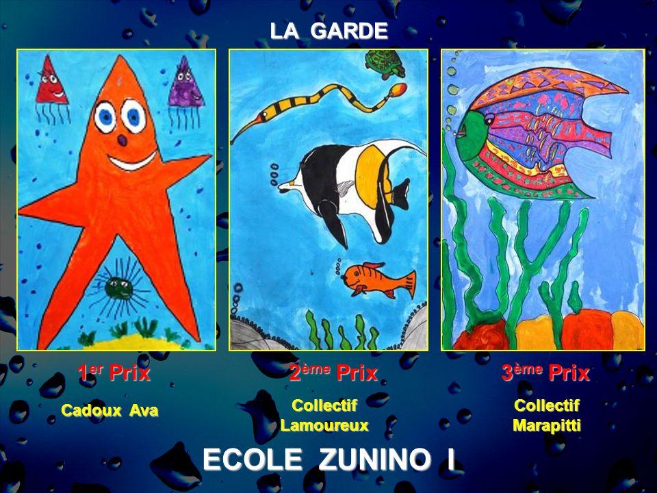 ECOLE ZUNINO I LA GARDE 1 er Prix 2 ème Prix 3 ème Prix CollectifMarapittiCollectifLamoureux Cadoux Ava