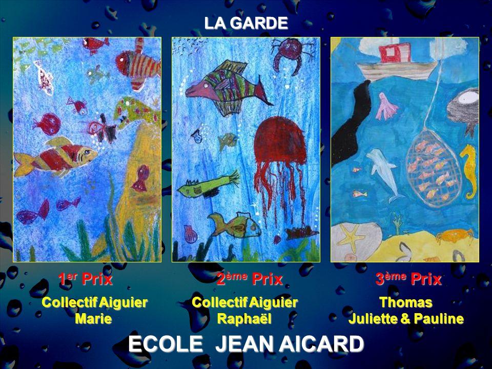 ECOLE JEAN AICARD LA GARDE 1 er Prix 2 ème Prix 3 ème Prix Collectif Aiguier Marie RaphaëlThomas Juliette & Pauline