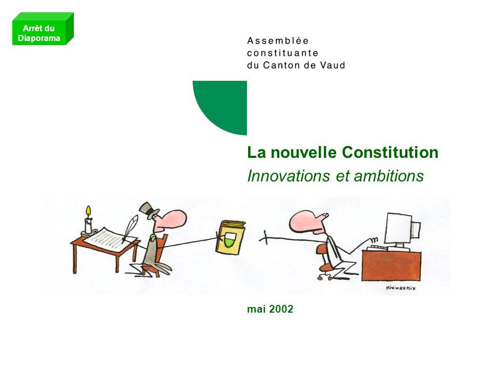 La nouvelle Constitution Innovations et ambitions mai 2002 Arrêt du Diaporama