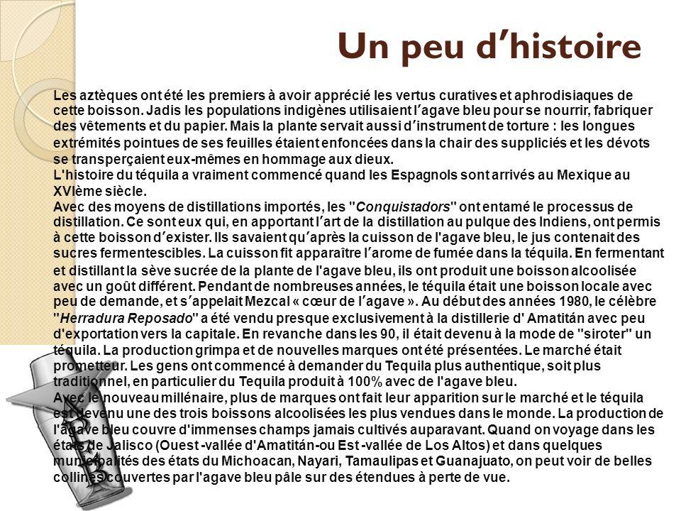 Un peu dhistoire Les aztèques ont été les premiers à avoir apprécié les vertus curatives et aphrodisiaques de cette boisson.