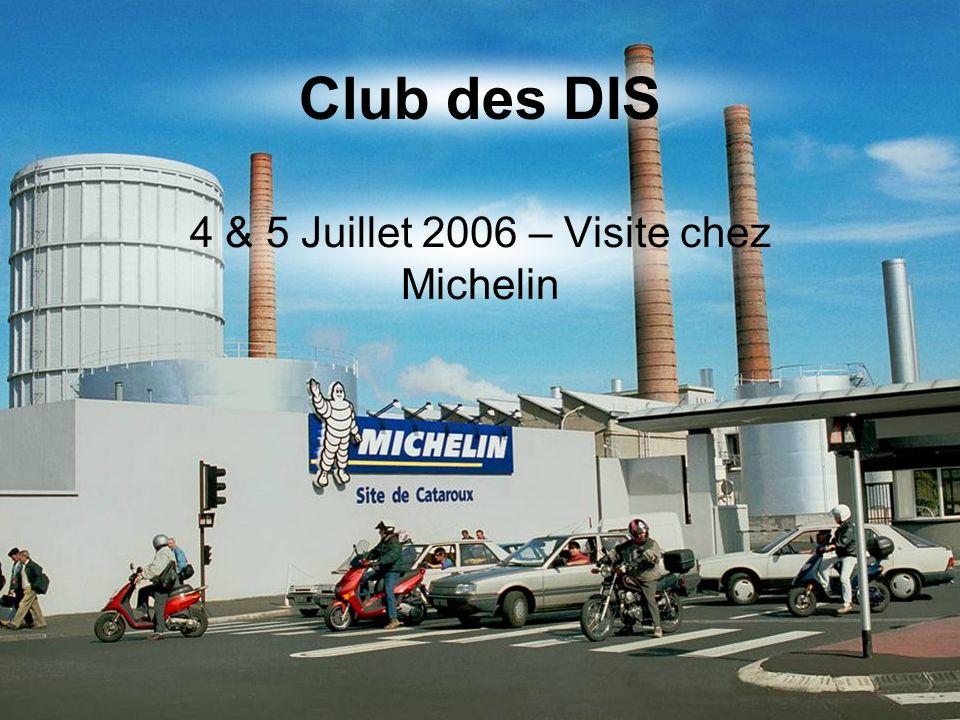 Après un brillant exposé… Octobre 2006 Monsieur Roger Mondière exposait, pour la première fois devant le Club des DIS, le Système de Management des Idées du groupe Michelin au Château CHAPEAU CORNU