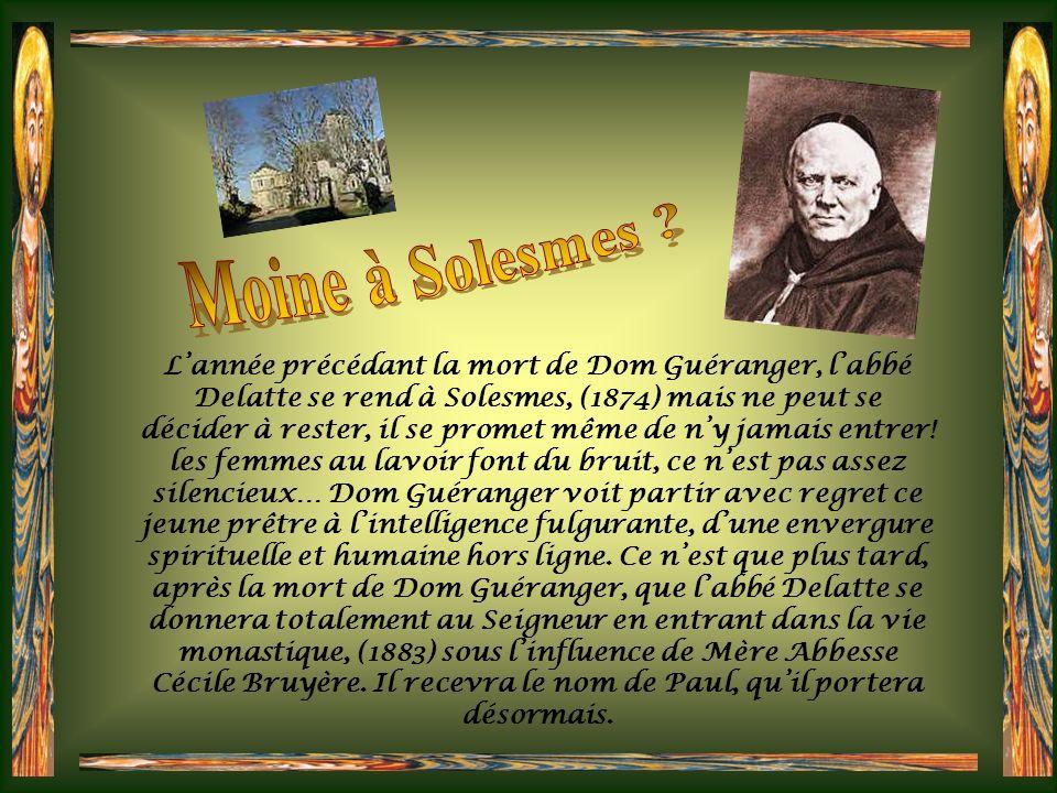 Après de brillantes études, Olis-Henri Delatte devient prêtre (1872), puis professeur de philosophie à luniversité catholique de Lille. Plusieurs peti