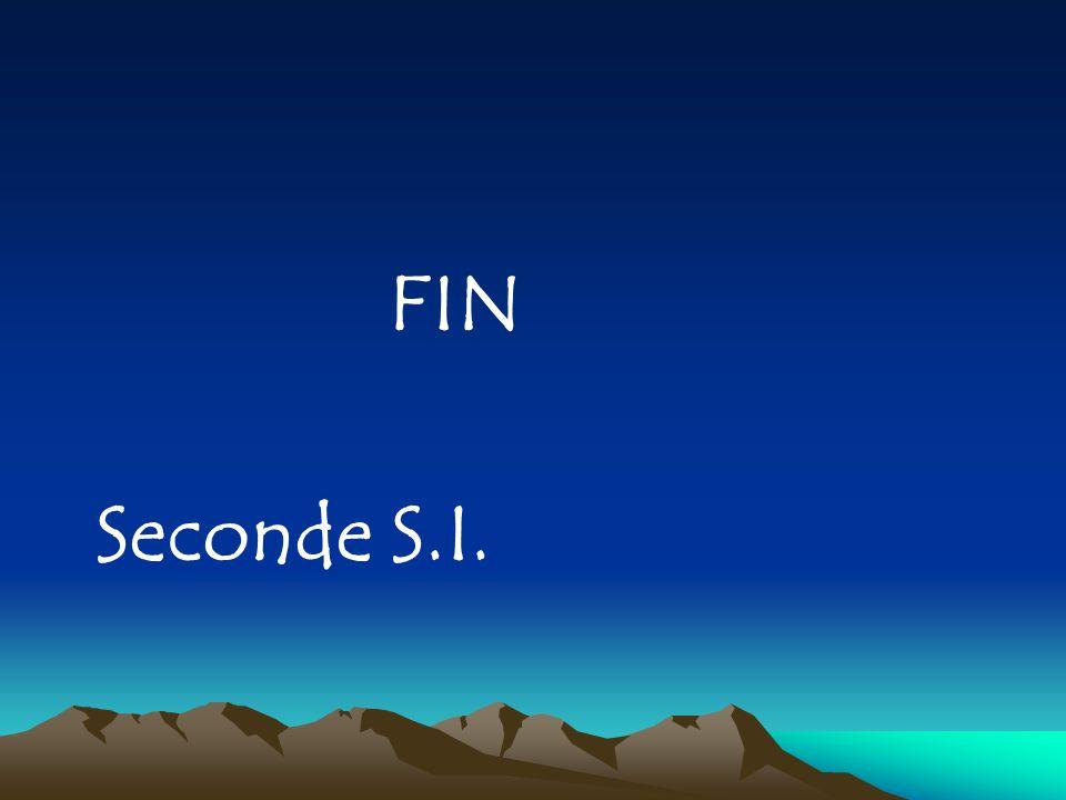 FIN Seconde S.I.