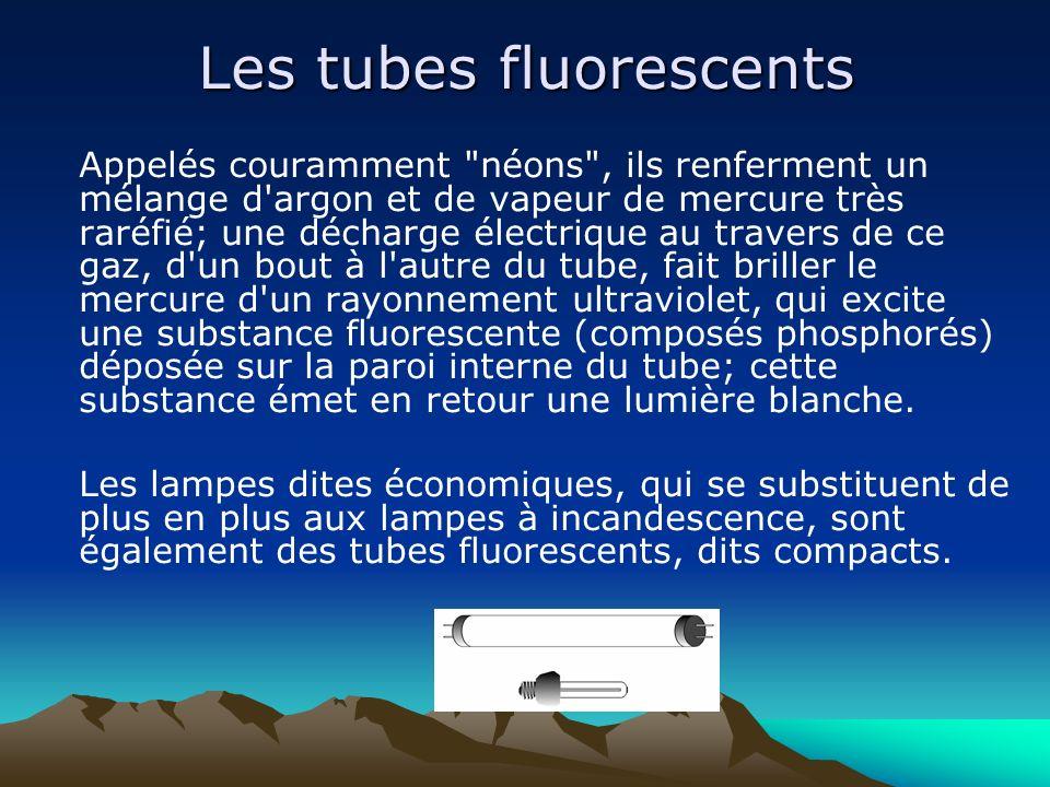 Les tubes fluorescents Appelés couramment