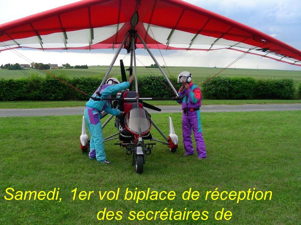 Samedi, 1er vol biplace de réception des secrétaires de lABUL…