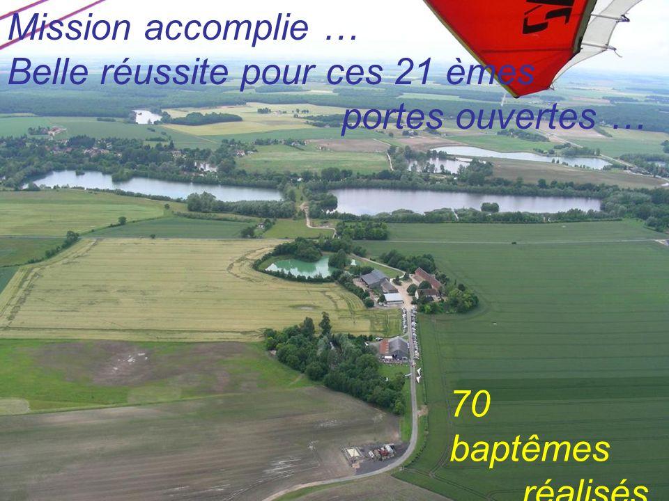 Mission accomplie … Belle réussite pour ces 21 èmes portes ouvertes … 70 baptêmes réalisés !