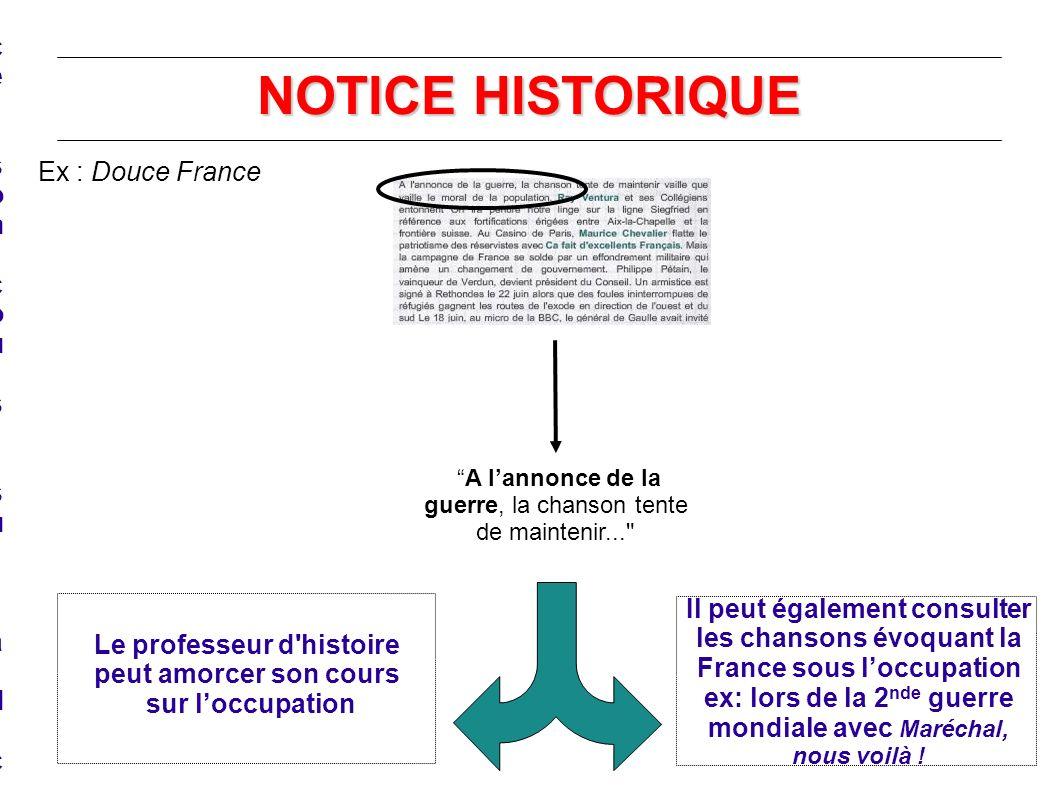 NOTICE HISTORIQUE Le professeur d'histoire peut amorcer son cours, sur la dictature Le professeur d'histoire peut amorcer son cours, sur la dictature