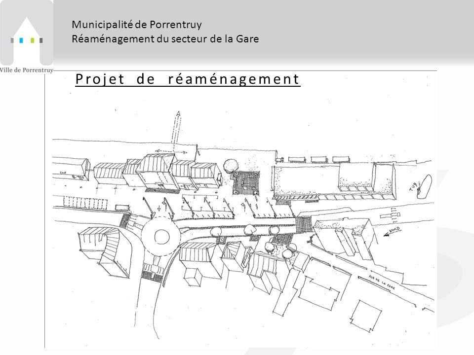 Municipalité de Porrentruy Réaménagement du secteur de la Gare Projet de réaménagement