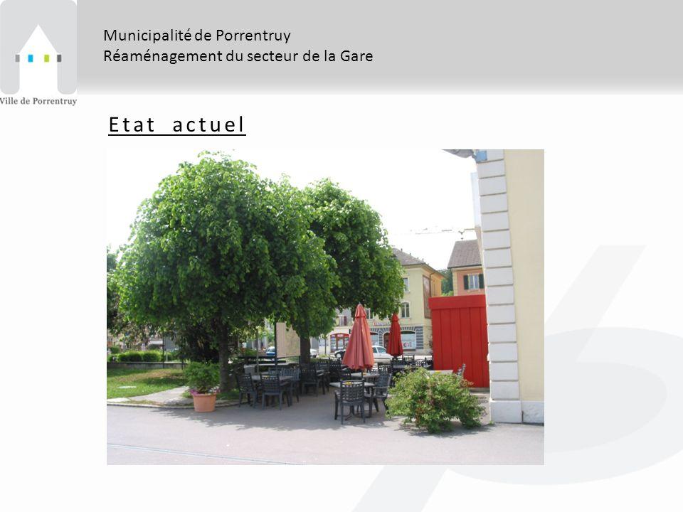 Municipalité de Porrentruy Réaménagement du secteur de la Gare Etat actuel