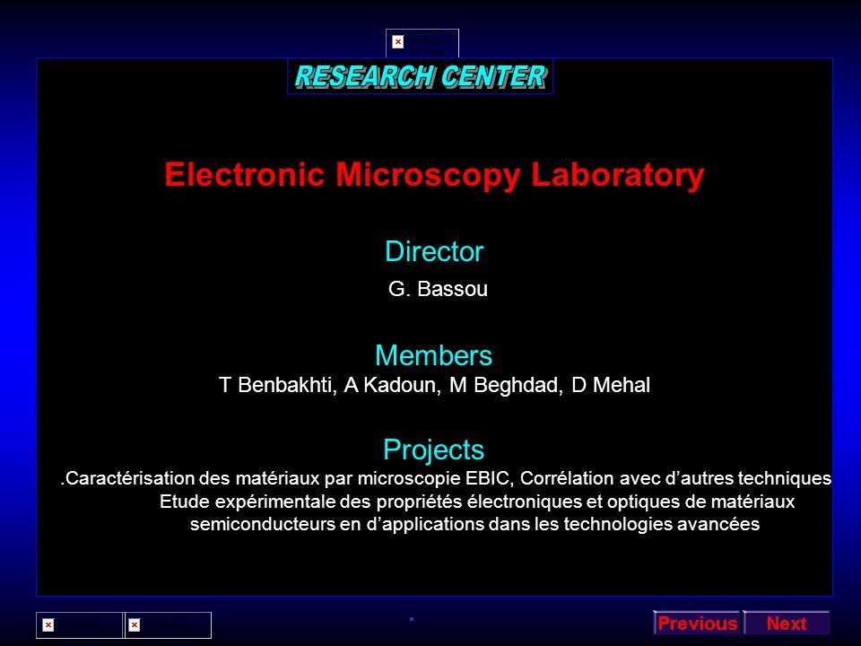 Positron Physics Laboratory Director N. Amrane Members B. Abbar Z. Nabi S. Mecabih N. Benosman A. Bencheikh M. Maachou N. Abouni A. Chahed A. Kellou S