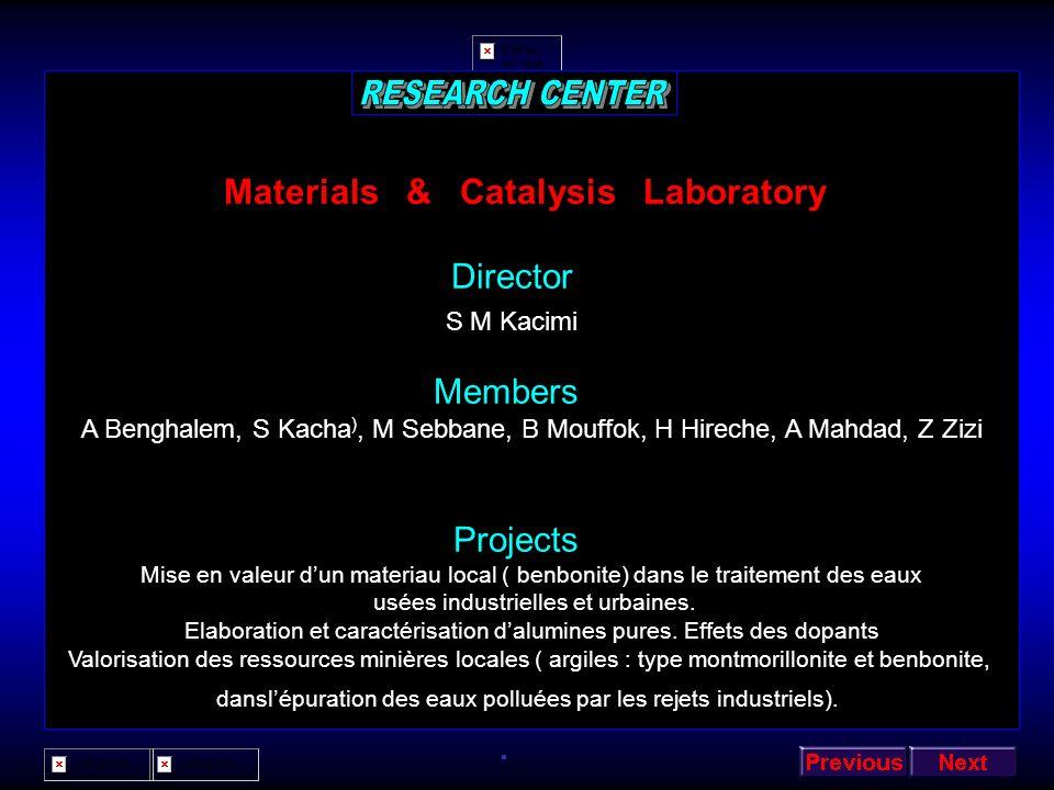 Signals & Systems Laboratory Director Ali Djebbari Members A Bounoua, N Taleb, R Meliani, A Djebbari A Azzedine,M Bouziani, SA Chouakri, H Bounoua. Pr