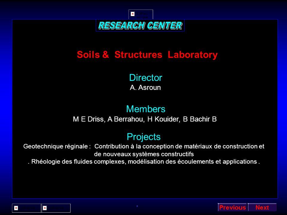 Architecture & Control Laboratory Director A Rahmoun Members A Lehirèche, A Gafour, M Benmohammed, Z El Berichi Projects Contrôle intelligent et systè