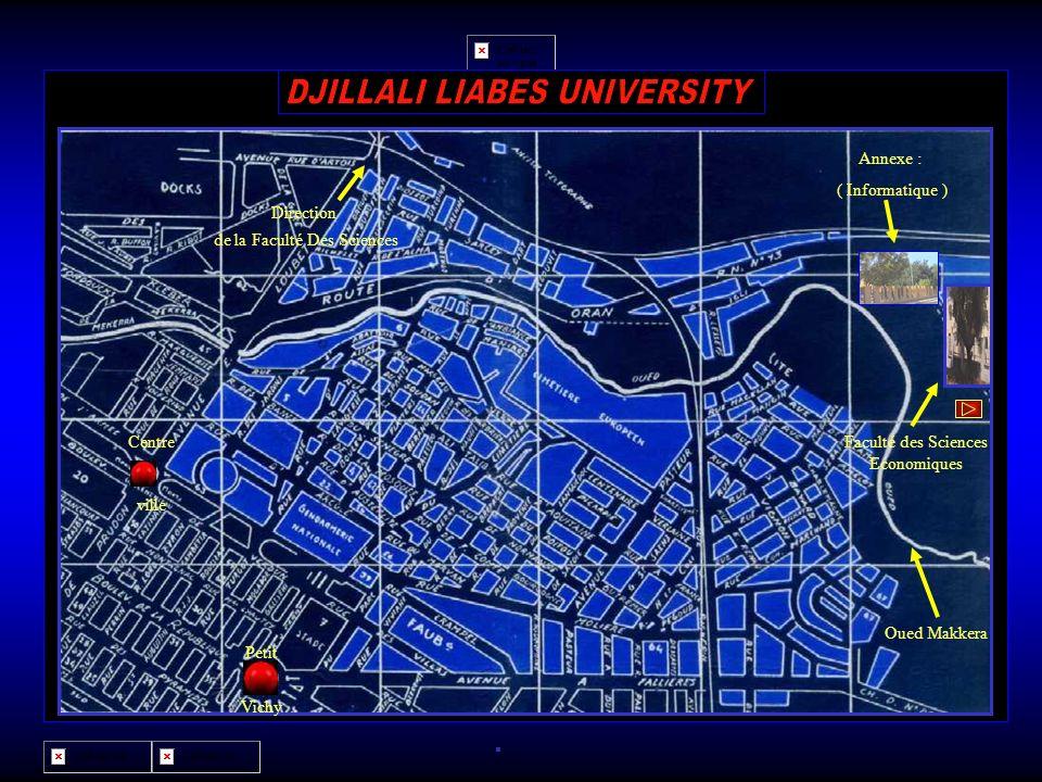 Faculté des Sciences Economiques Oued Makkera Centre ville Direction de la Faculté Des Sciences Petit Vichy Economie Annexe : ( Informatique ) La Facu