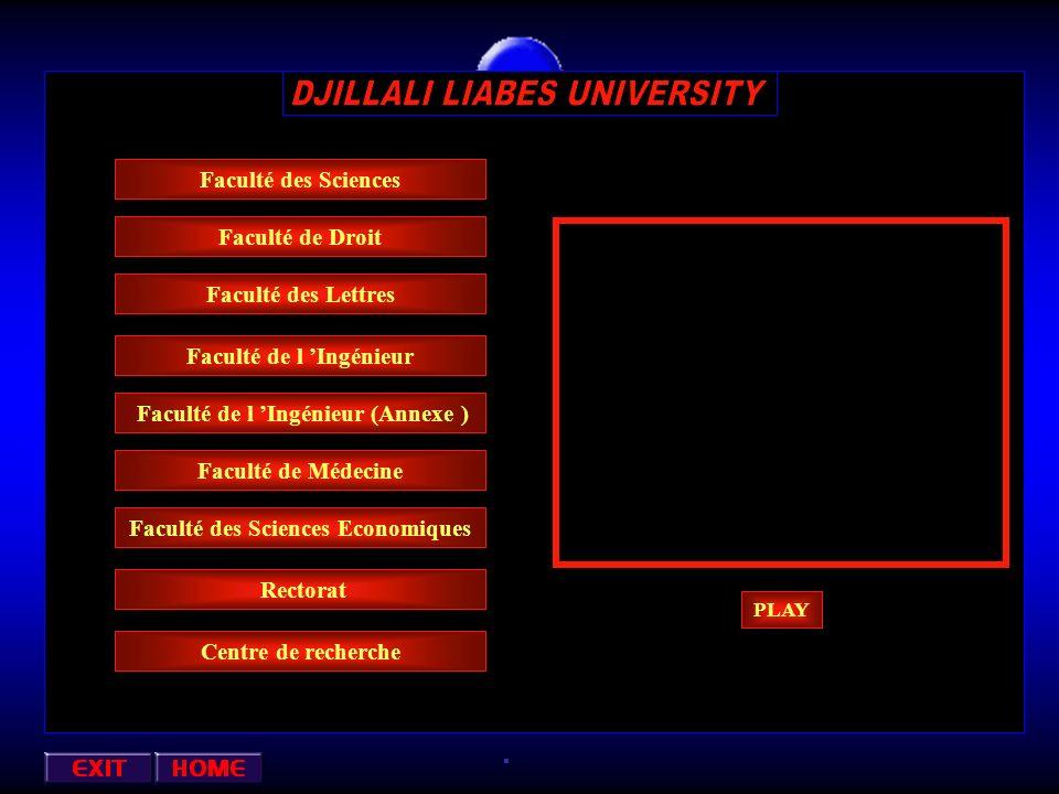 Annexe : ( Informatique ) Oued Makkera Centre ville Direction de la Faculté Des Sciences Petit Vichy Faculté des Sciences Economiques