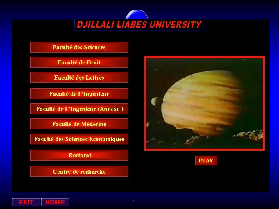 Oued Makkera Centre ville Direction de la Faculté Des Sciences Petit Vichy Annexa : ( Informatique ) Faculté des Sciences Economiques