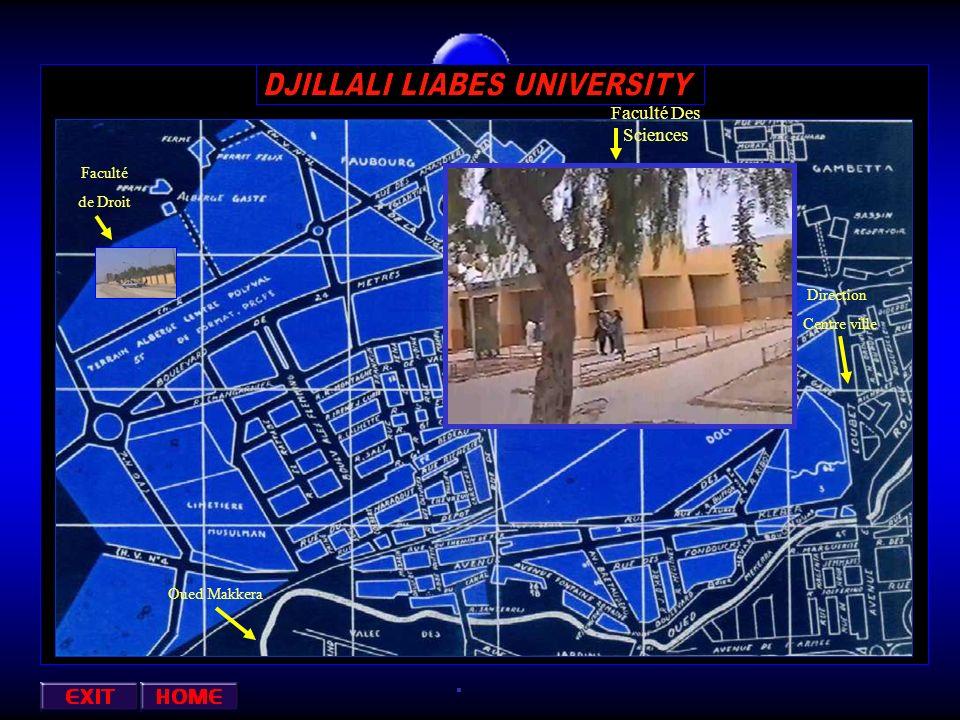 Oued Makkera Centre ville Direction de la Faculté Des Sciences Petit Vichy Annexe : ( Informatique ) Faculté des Sciences Economiques