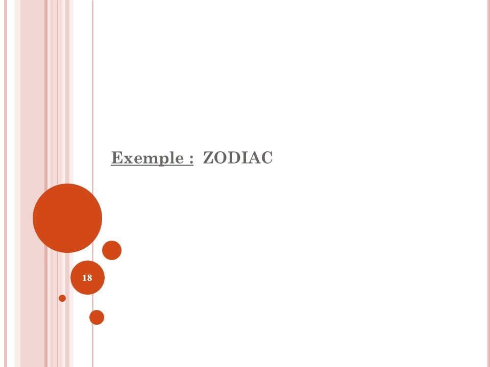 Exemple : ZODIAC 18