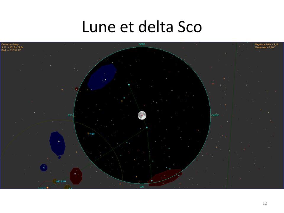 Lune et delta Sco 12