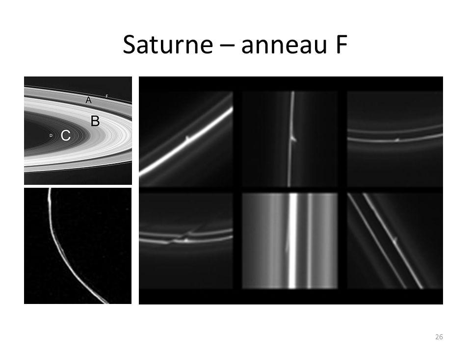 Saturne – anneau F 26