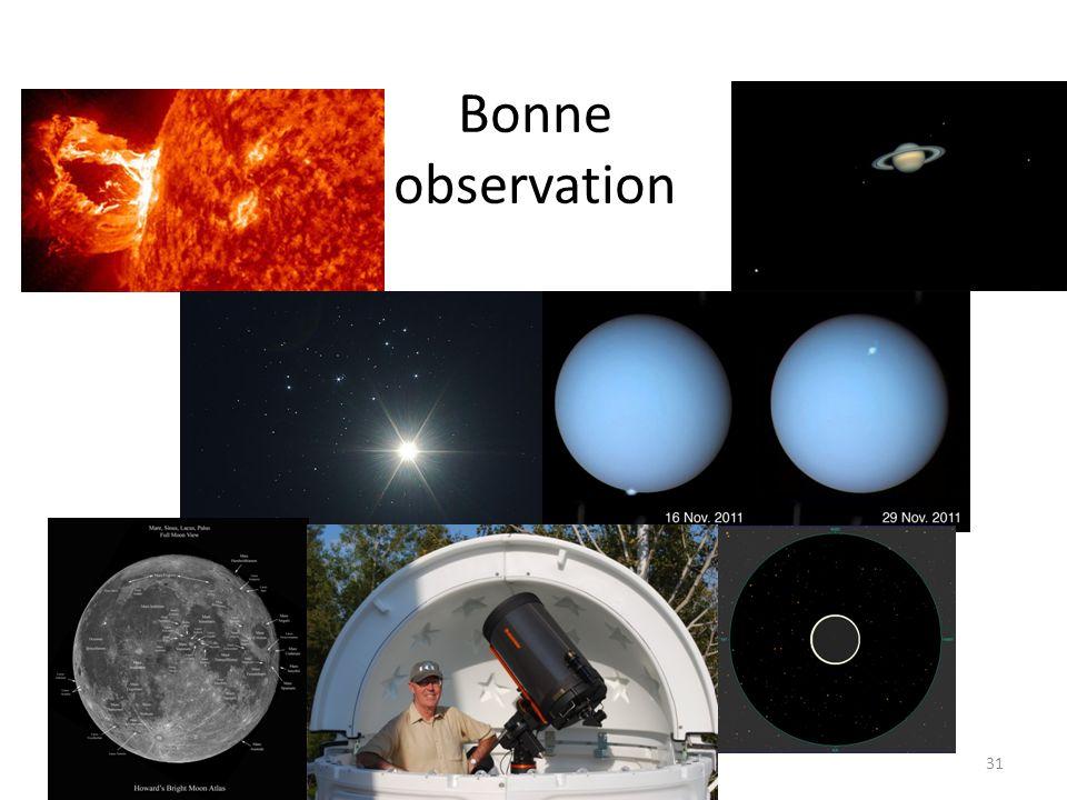 Bonne observation 31