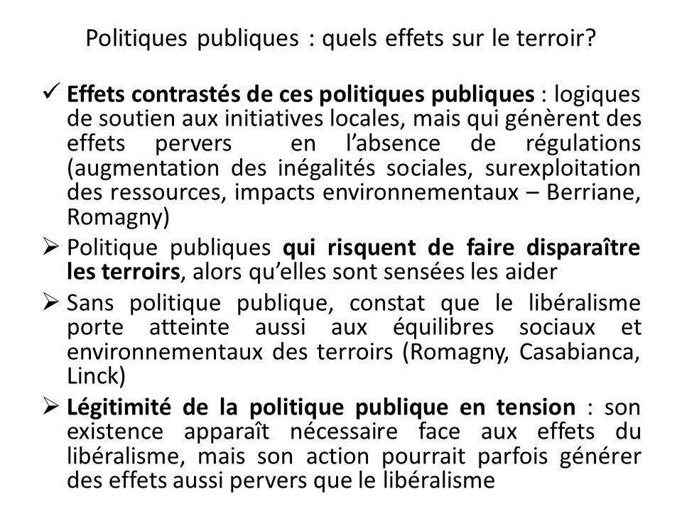 Politiques publiques : quels effets sur le terroir.