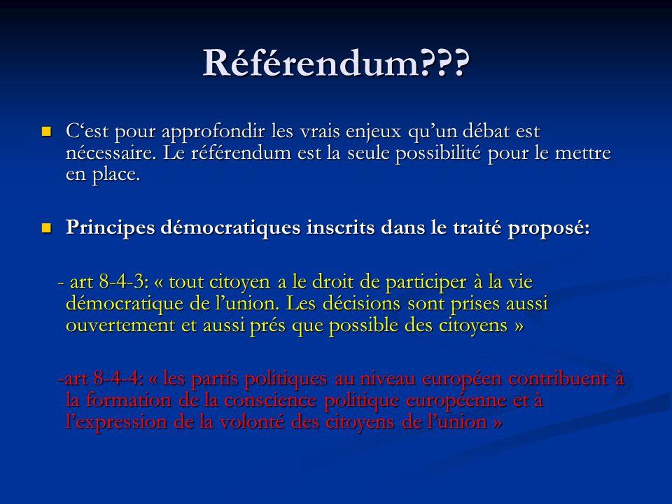 Référendum . Cest pour approfondir les vrais enjeux quun débat est nécessaire.