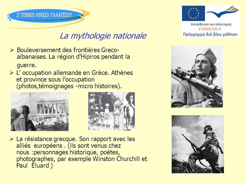 La mythologie nationale Bouleversement des frontières Greco- albanaises.