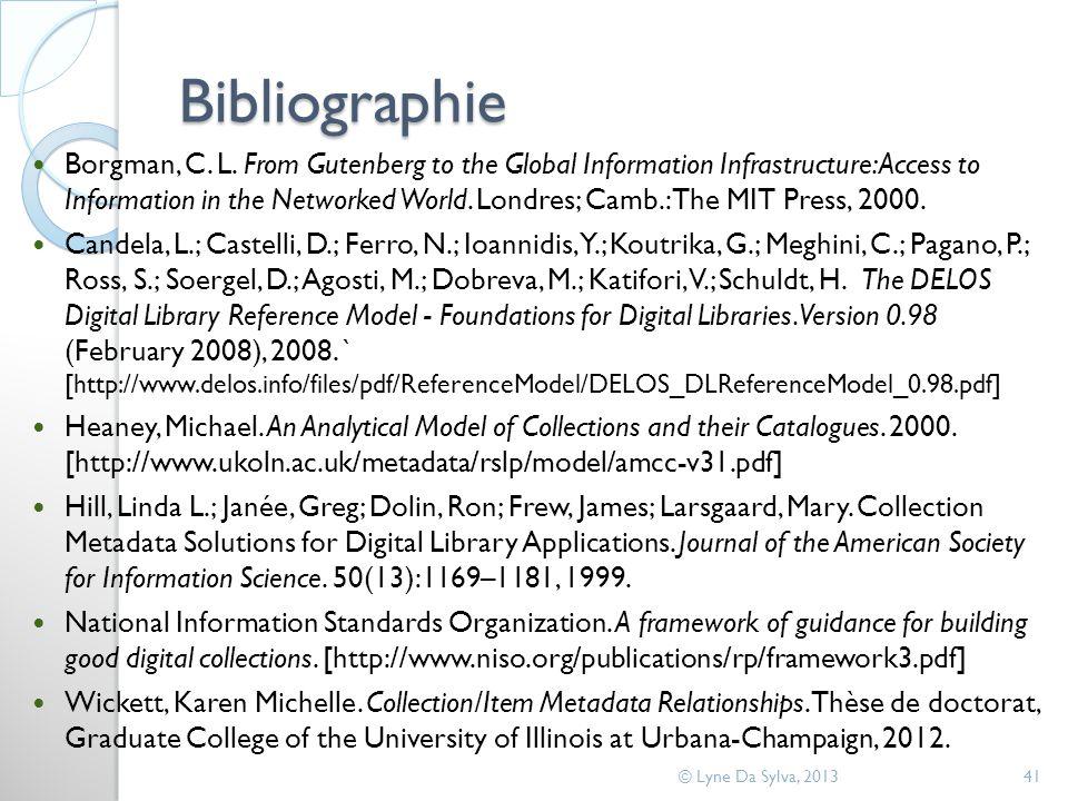 Bibliographie Borgman, C. L.