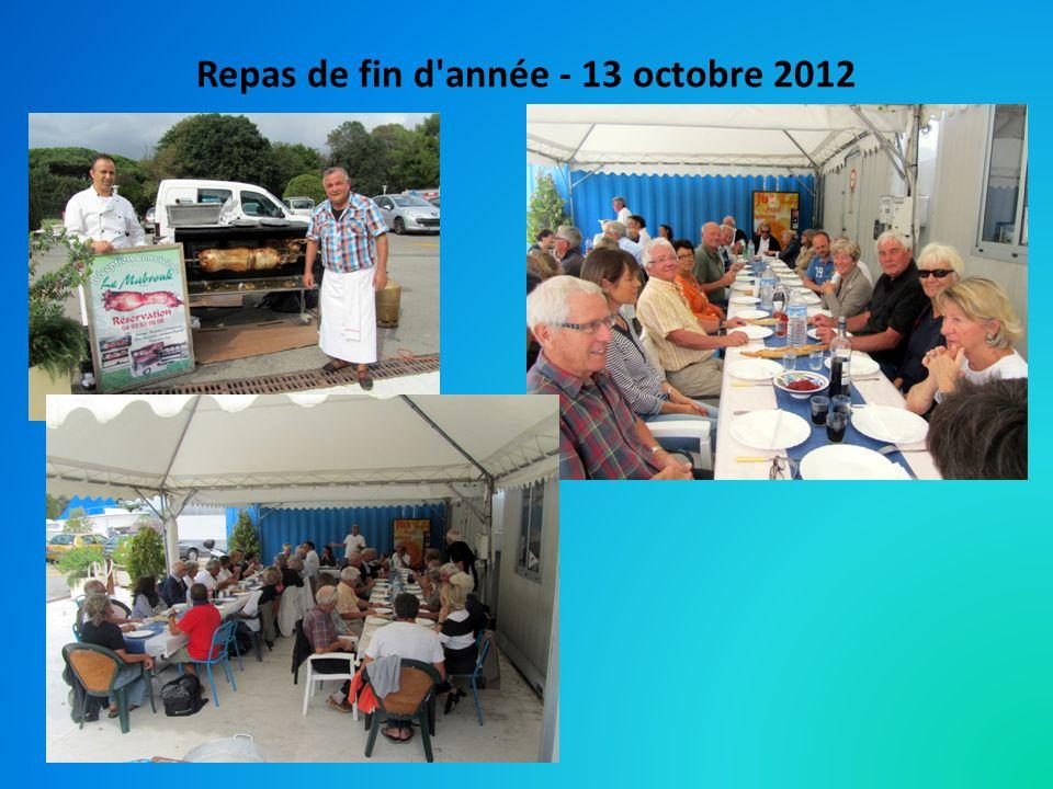 Repas de fin d'année - 13 octobre 2012