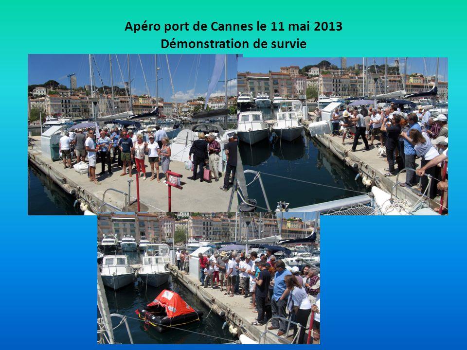 Apéro port de Cannes le 11 mai 2013 Démonstration de survie