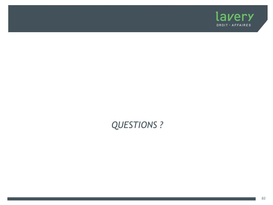 QUESTIONS ? 80