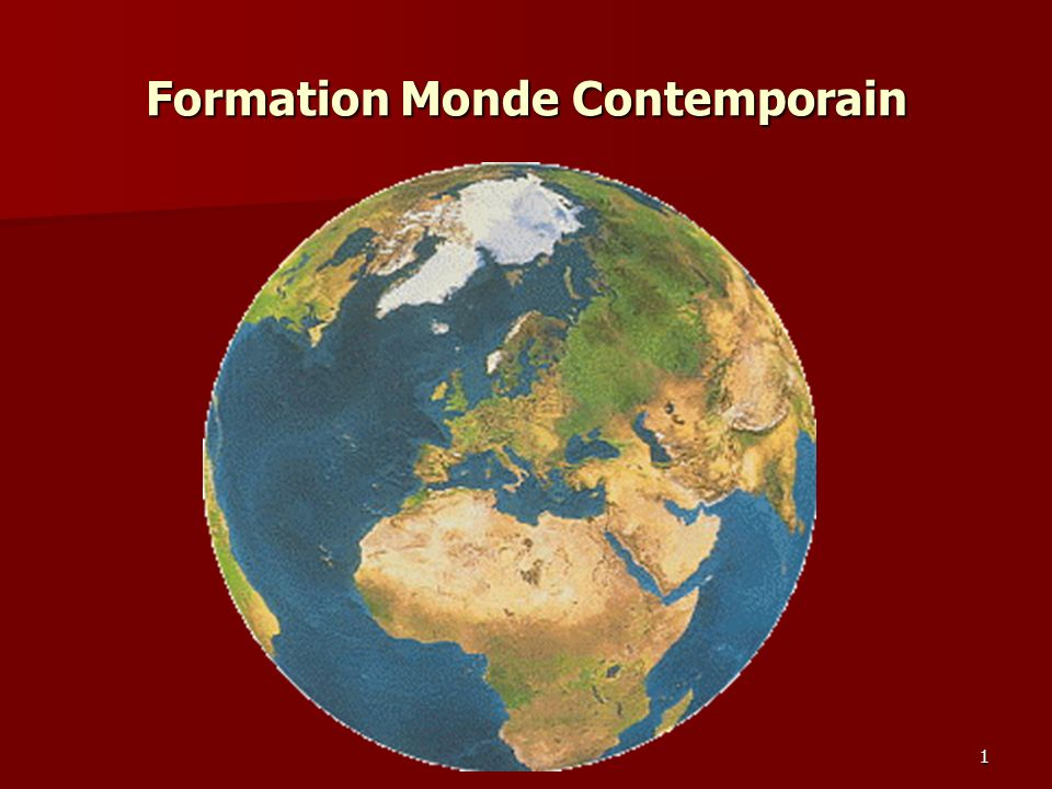 Formation Monde Contemporain 1