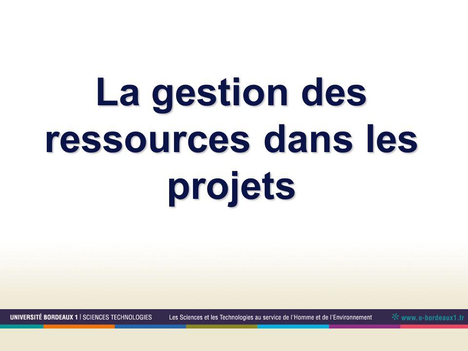 La gestion des ressources dans les projets
